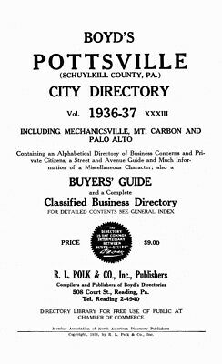 Schuylkill County, PA Directories 1928-1942 - Genealogy / History References