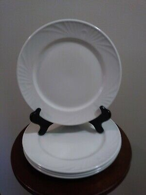 Set of 4 Dudson Stoke-On-Trent Olympus White Dinner/Salad Plates - England