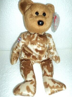 2003 March 12th TY Beanie Baby HERO The Bear With Tag Retired   DOB