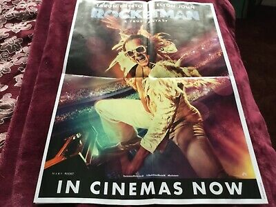 ELTON JOHN ROCKETMAN POSTER and ROLLING STONES ROCK N ROLL CIRCUS POSTER