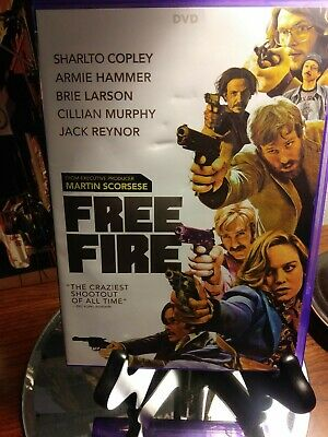 Free Fire (DVD, 2017) Brie Larson aka Captain Marvel - Action Thriller -Like New