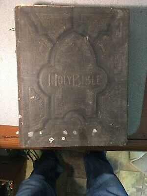 Antique Family Pictorial Holy Bible Original Tongues Old & New Testament Nashvil