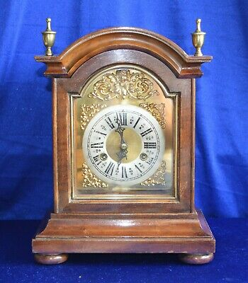 Antique Victorian Junghans Walnut Striking Bracket Clock