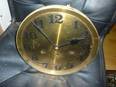 1930s Longcase Grandfather Clock Spring Driven Chimeing Movement+Dial(74)