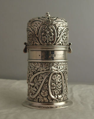 Victorian Solid Silver Lighthouse Shaped Sugar Caster - Birm. 1898