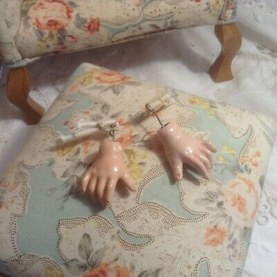 Pair Of Antique Composition Hands For A French Ball Jointed Doll Body - 1-1/2""