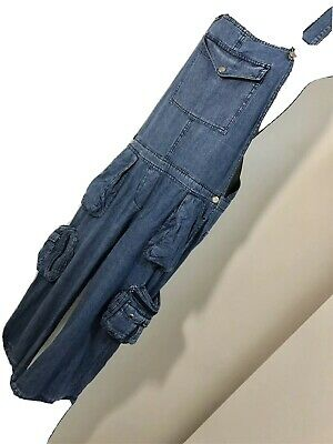Vintage Denim Dungarees UK 10