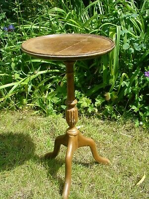 Vintage Mahogany Side Wine Coffee Lamp Sofa Table Plant Stand Furniture Not Pine