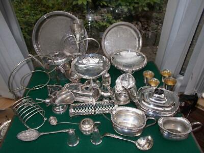 Job Lot Of Antique Silver Plate Just Over 8 Kg All You Can See In Pictures