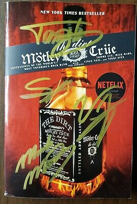 "ALMOST GONE! Autographed Motley Crue ""The Dirt"" signed @ Movie Premier!!! RARE!!"