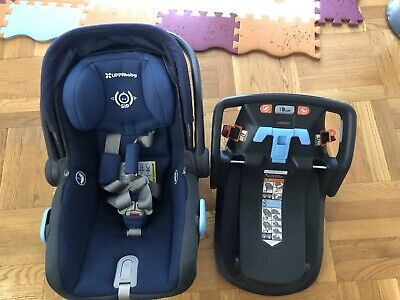 UPPAbaby 2018 MESA Infant Baby Car Seat with Base in Navy Blue Used 2017