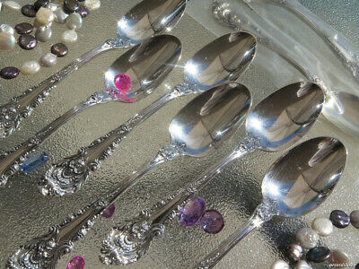One Dessert Teaspoon Wallace Sir Christopher Sterling Silver Flatware Excellent
