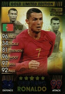 Match Attax 101 2019 Cristiano Ronaldo Gold Limited Edition Le5G Mint