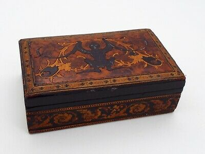 Antique Sorrento? Marquetry Inlaid Wooden Box