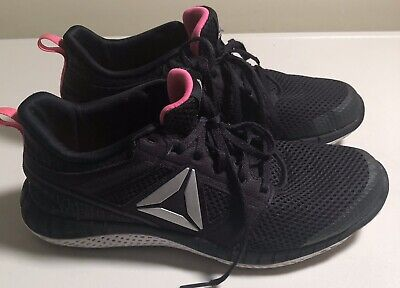 REEBOK Athletic Shoes ENDLESS ROAD In Black Pink Women's Sz 7.5 NEW