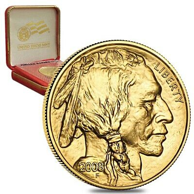 2008 1 oz Gold American Buffalo Celebration $50 Coin (Sealed, W/Box & COA)