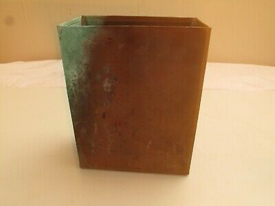 Vtg Copper Arts & Crafts Mailbox Needs A Lid ! Box Storage