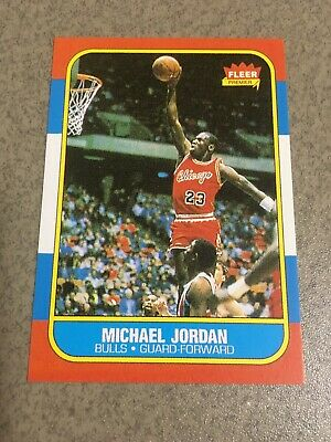 1986-1987 Fleer Michael Jordan Chicago Bulls #57 Basketball Card REPRINT