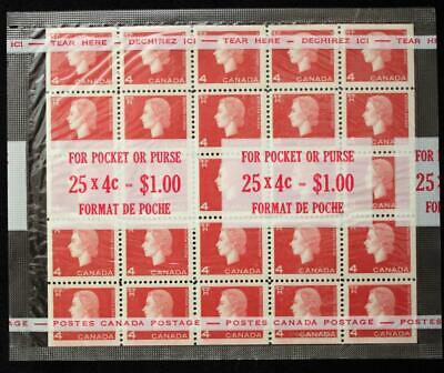 Canada #404bii, MNH OG, Sealed Cello Pak With Miniature Pane Of 25, Cameo Series