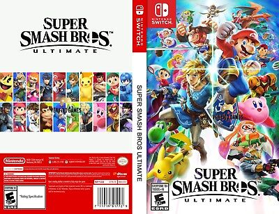 Super Smash Bros Ultimate (Nintendo Switch) Replacement Case, No Game