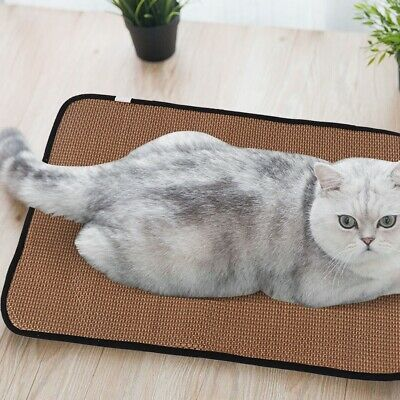 Pet Cooling Mat Non-Toxic Rattan Pad Cooling Pet Bed for Summer Dog Cat Puppy