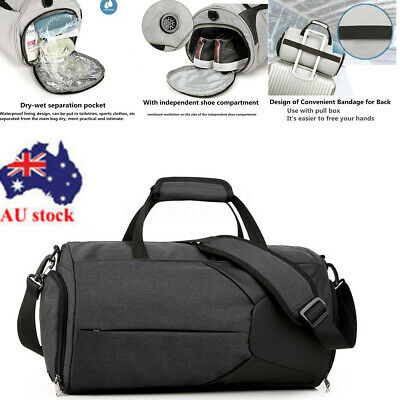 Men Women Nylon Waterproof Gym Duffel Sport Fitness Shoulder Bag Travel Handbag