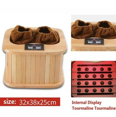 Far Infrared Feet Recovery Spa Sauna Therapy Detox Muscle Recovery Canadian Wood