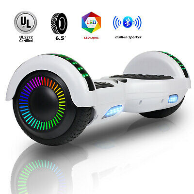 UL2272 White Bluetooth Hoverboard Electric Self Balance Scooter Overboard LED