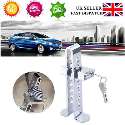 Adjustable Car Brake Clutch Foot Pedal Stainless Anti Theft High Security Lock S