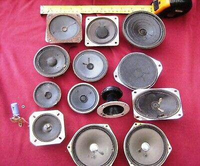 SPEAKERS – Lot of 13 used untested small speakers L@@K