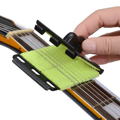 Acoustic Electric Guitar Bass Strings Scrubber Rub Cleaner Maintenance Care Tool