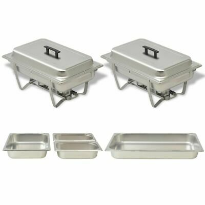 Practical  2 Piece Chafing Dish Set Stainless Steel Food Catering Restaurants