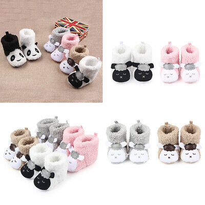 Toddler Newborn Baby Crawling Shoes Boy Girl Lamb Slippers Prewalker Trainer