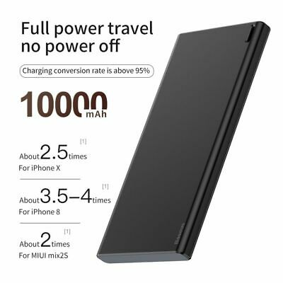 Baseus 10000mAh Power Bank USB PD Fast Charging For iPhone Samsung And Other
