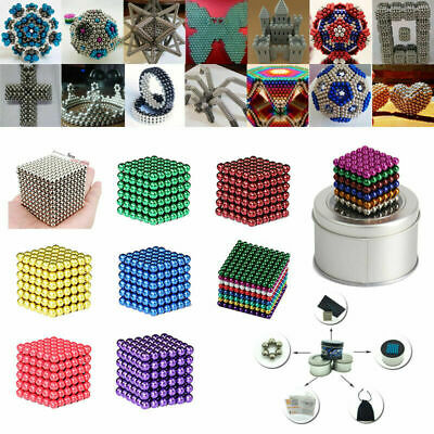 NEW 5mm 216PC Super Strong Neodymium Sphere Puzzle Magnetic Balls DIY Magnet
