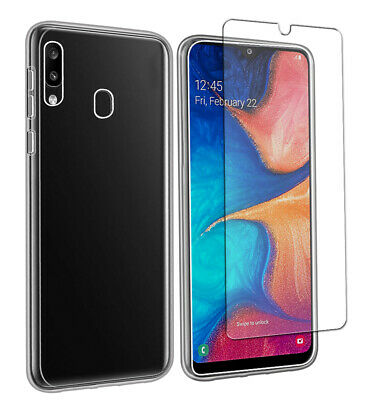 Case for Samsung Galaxy A20e Front and Back 360 Cover + Glass Screen Protector