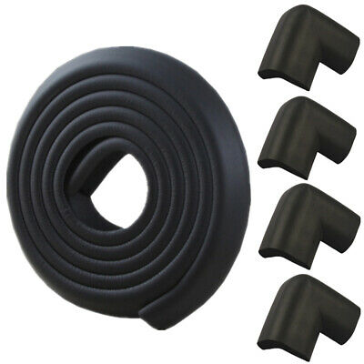 Thick Foam 2M Baby Proofing Edge Guard Foam Protector Bumpers + 4 Corner Cushion