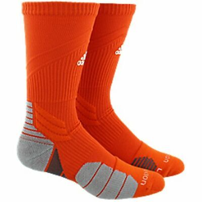 e051258df Adidas Menace Crew Traxion Athletic Basketball Soccer Socks Orange Large  9.5-12