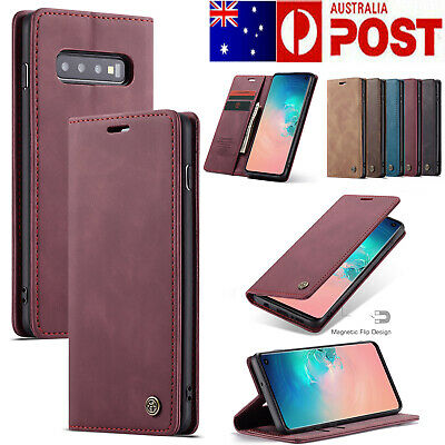 For Samsung Galaxy S10 5G S8/S9 Plus S7 Edge Case Leather Magnetic Wallet Cover