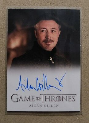Game Of Thrones Season 7 - Trading Card Aiden Gillen Autograph Card