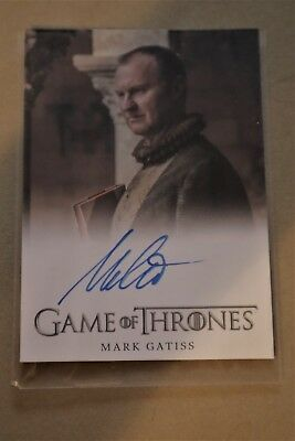 Game Of Thrones Season 7 - Trading Cards Mark Gatiss Autograph Card