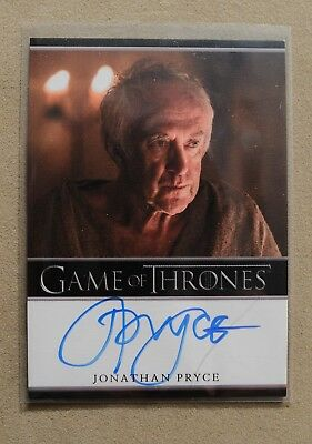 Game Of Thrones Season 7 - Trading Card Jonathan Pyrce Autograph Card