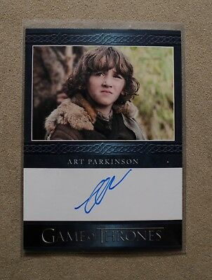 Game Of Thrones Season 7 - Trading Card Art Parkinson Autograph Card