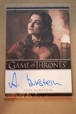 Game Of Thrones Season 7 - Trading Cards Ania Burkstein Autograph Card