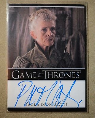 Game Of Thrones Season 7 - Trading Card Paola Dionisotti Autograph Card