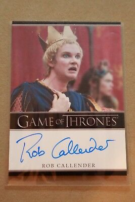 Game Of Thrones Season 7 - Trading Cards Rob Callender Autograph Card