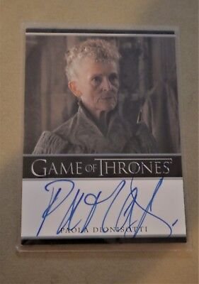 Game Of Thrones Season 7 - Trading Cards Paola Dionisotti Autograph Card