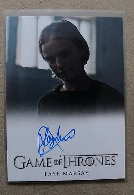 Game Of Thrones Season 7 - Trading Card Faye Marsay Autograph Card