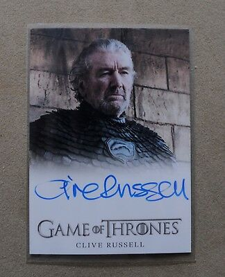 Game Of Thrones Season 7 - Trading Card Clive Russell Autograph Card
