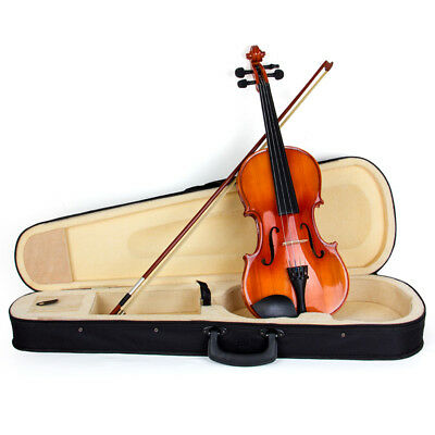 Violin 4/4 Full Size Acoustic Fiddle Musical Instruments Bow Rosin Maple Wood
